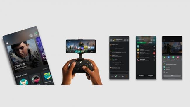 La nouvelle application mobile Xbox (en bêta) pour Android © Microsoft