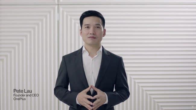 Pete Lau durant la présentation des OnePlus 8