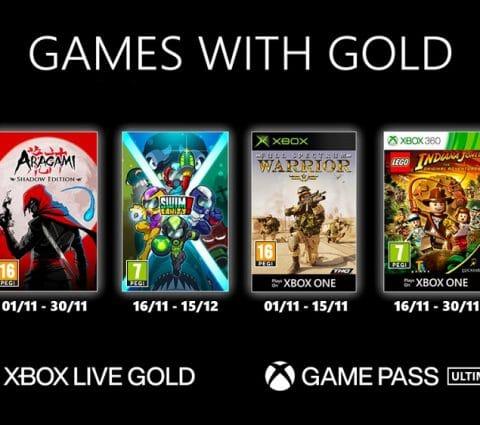 Games with Gold et Xbox Game Pass : les jeux Xbox du mois de novembre 2020