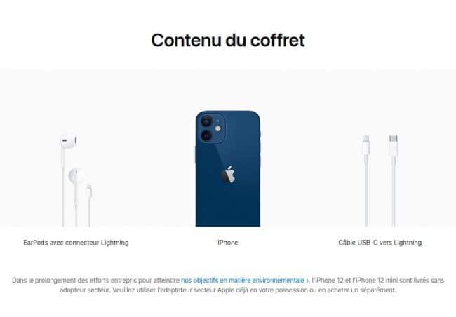 En France, Apple doit fournir des écouteurs avec son iPhone © Capture d'écran/apple.com