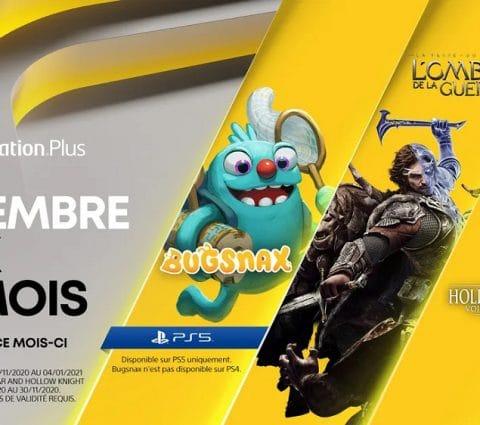 PlayStation Plus : Sony dévoile les jeux gratuits du mois de novembre 2020