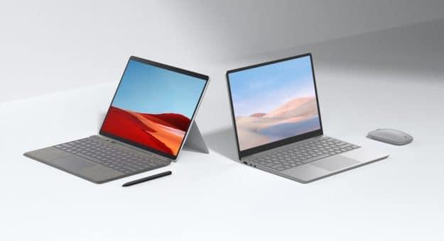 Microsoft Surface Pro X et Laptop Go