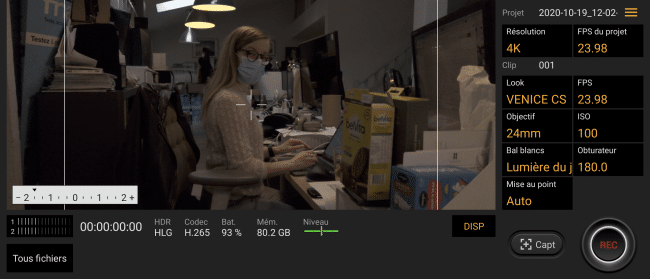 Cinema Pro sur le Sony Xperia 5 II