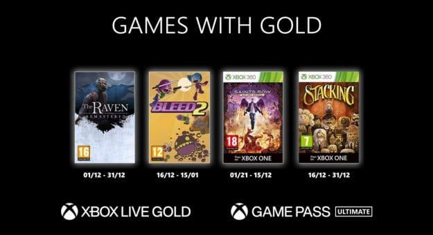 Microsoft Games with Gold : les jeux Xbox gratuits du mois de décembre 2020