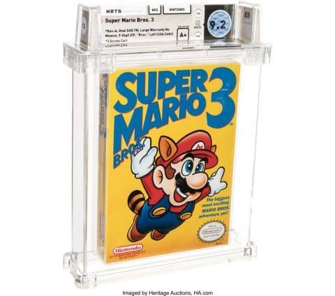 Un record : une cartouche de Super Mario Bros. 3 a été vendue 156 000 dollars