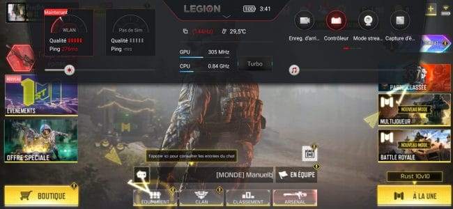 Assistant Legion sur le Lenovo Legion Phone Duel