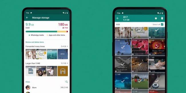 WhatsApp Stockage
