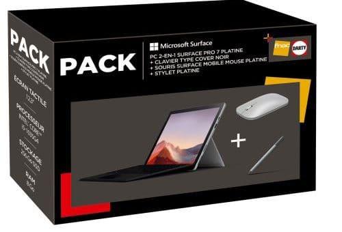 Bon Plan – Le pack Microsoft Surface Pro 7 est à 1239,99 euros au lieu de 1719,99 euros (contenu partenaire)