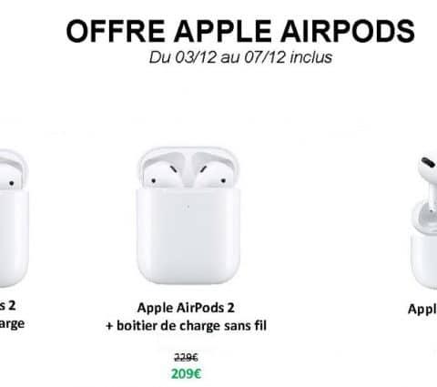 Bon plan – AirPods : tous les écouteurs sans fil Apple en promotion
