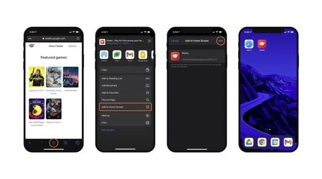 Google Stadia iOS