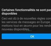 ePrivacy : Facebook et Instagram désactivent des fonctions en Europe