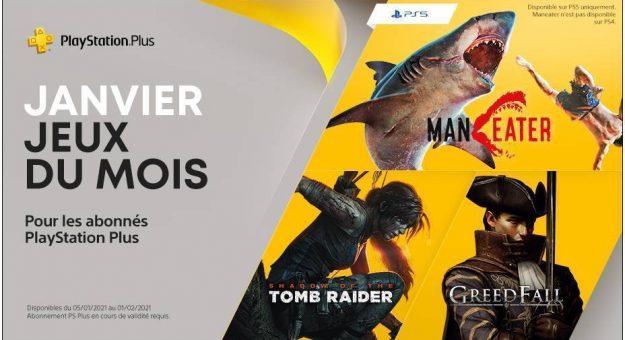 Jeux PS Plus de janvier 2021