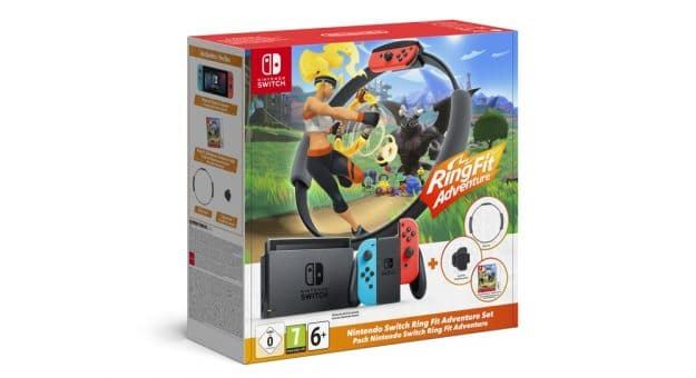 Nintendo lance un bundle Switch avec son jeu star Ring Fit Adventure
