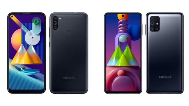 Samsung Galaxy M11 et M51