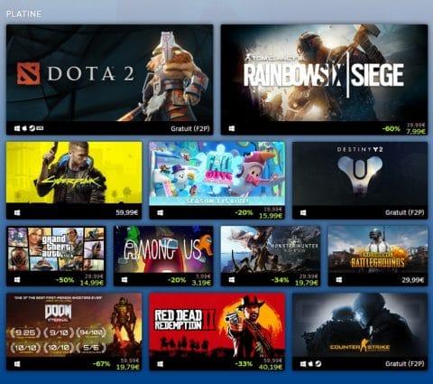 Steam : Valve dévoile les jeux les plus populaires de l'année 2020