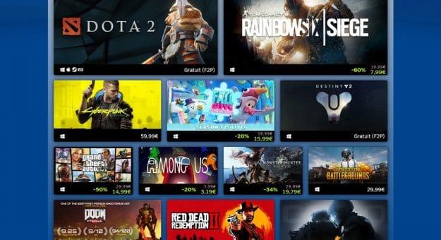 Top ventes Steam 2020