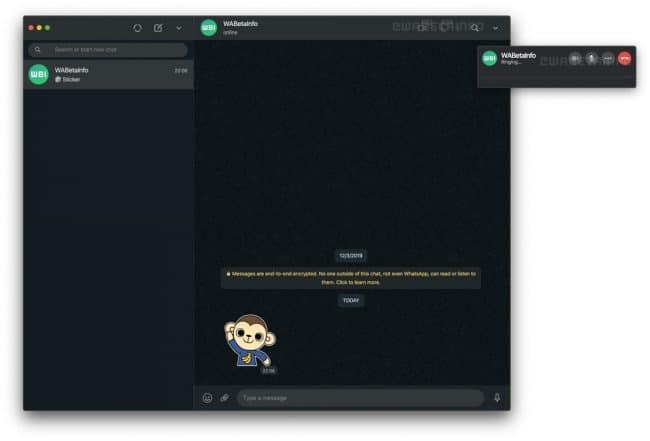 WhatsApp appels audio et vidéo