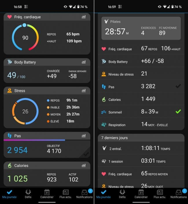 App Garmin Connect Venu Sq