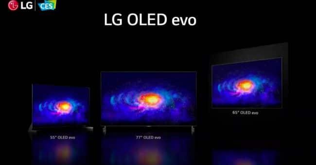 La série LG G1 (OLED Evo) © Capture d'écran / LaboFnac