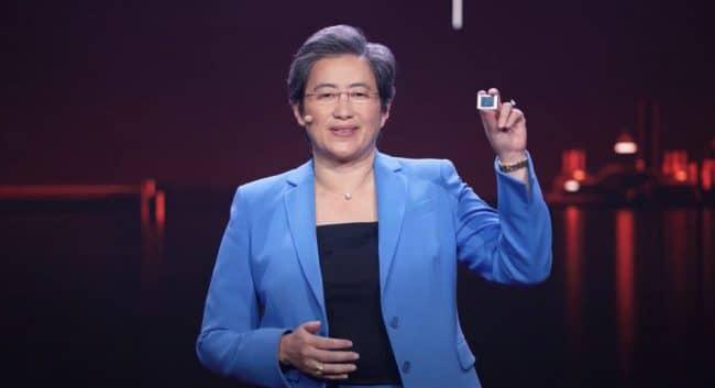Lisa Su présente les Ryzen 5000 Mobile © AMD