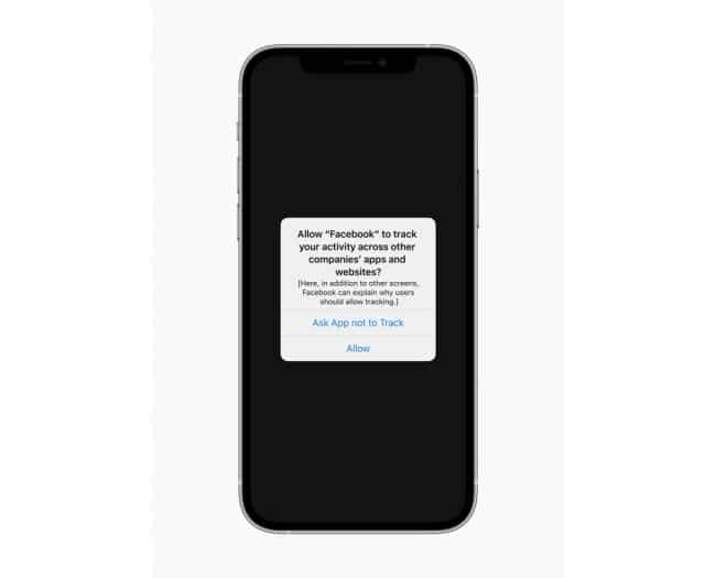 La fonction App Tracking Transparency sera disponible au printemps sur iOS © Apple