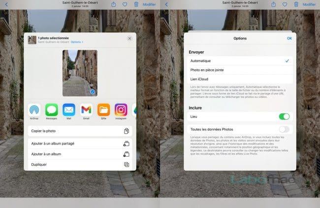 iPad localisation photos