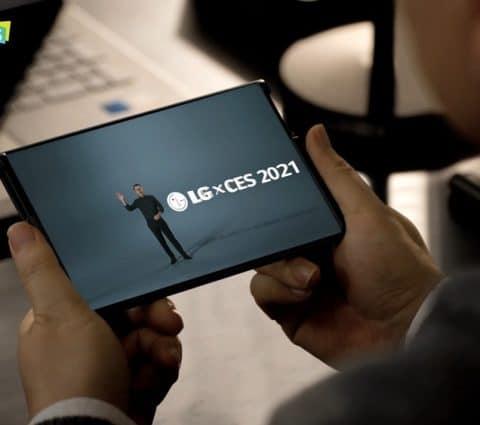 CES 2021 – LG tease l'arrivée de son smartphone à écran enroulable, le LG Rollable