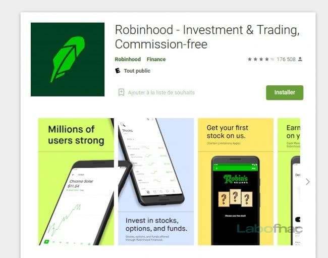 Robinhood Google Play Store