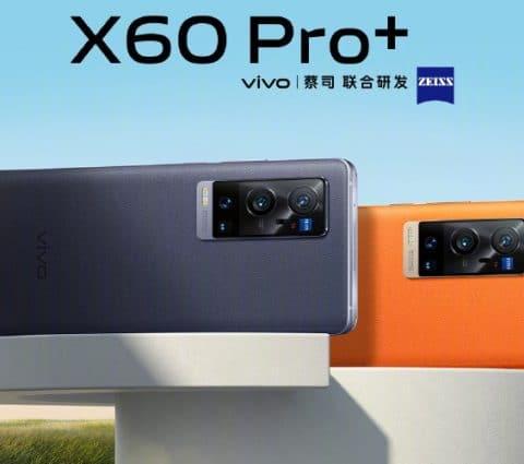 Vivo lance le X60 Pro+ avec Snapdragon 888 et capteur photo grand format stabilisé par gimbal