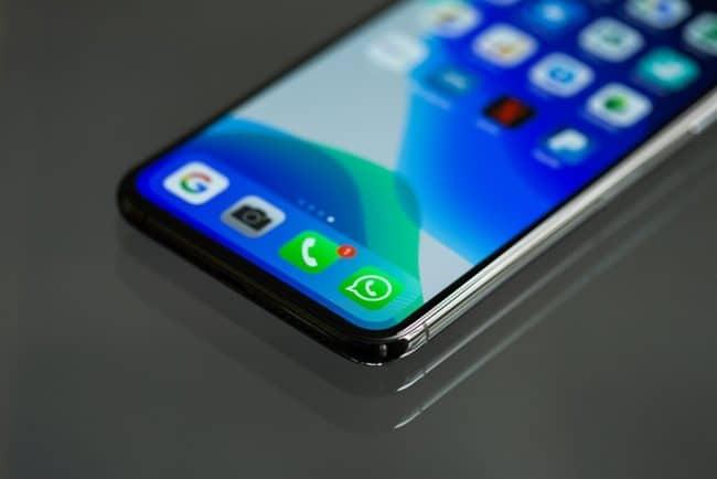 WhatsApp application smartphone