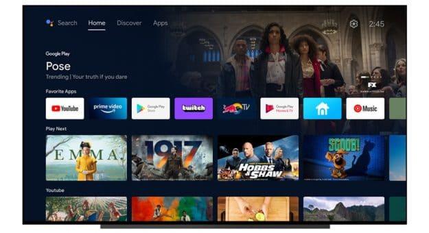 Android TVse rapproche de Google TV pour sa nouvelle interface