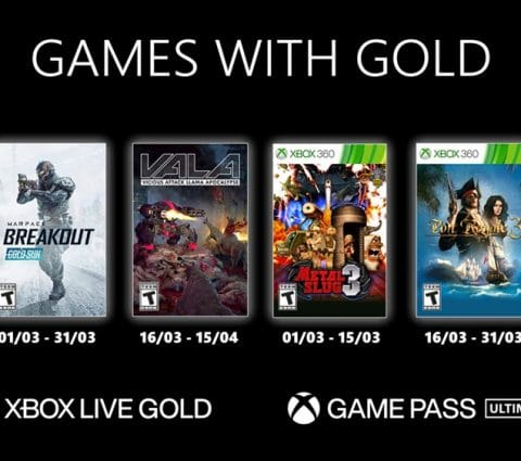 Microsoft Games with Gold : les jeux Xbox gratuits du mois de mars 2021