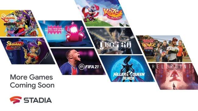 Google Stadia jeux 2021