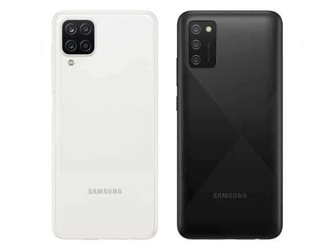 Samsung Galaxy A12 et Samsung Galaxy A02s