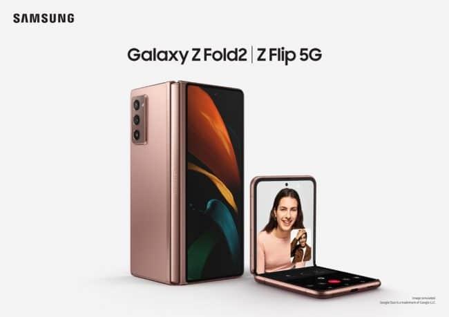 Samsung Galaxy Z Fold2 et Z Flip