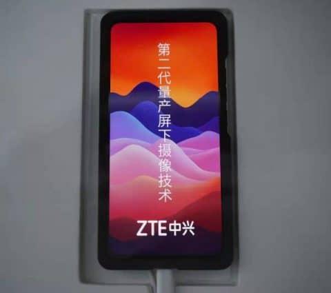 ZTE lève le voile sur sa caméra selfie sous écran de nouvelle génération