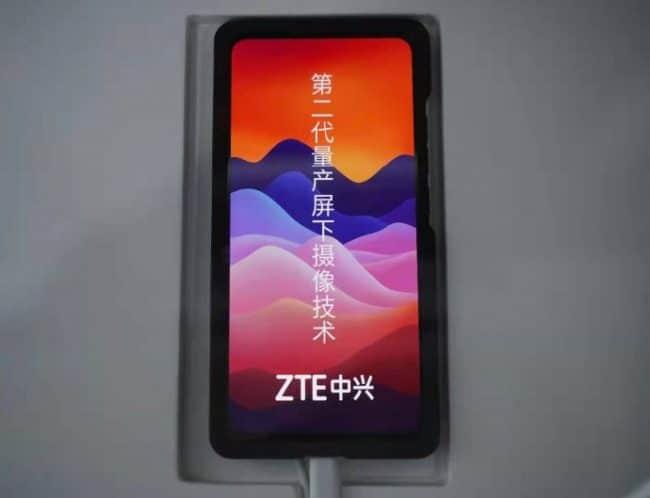 ZTE a dévoilé un prototype lors du MWC 2021 de Shanghai © ZTE Mobile (via Weibo)