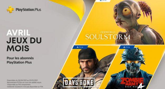 Sony PlayStation Plus jeux gratuits avril 2021