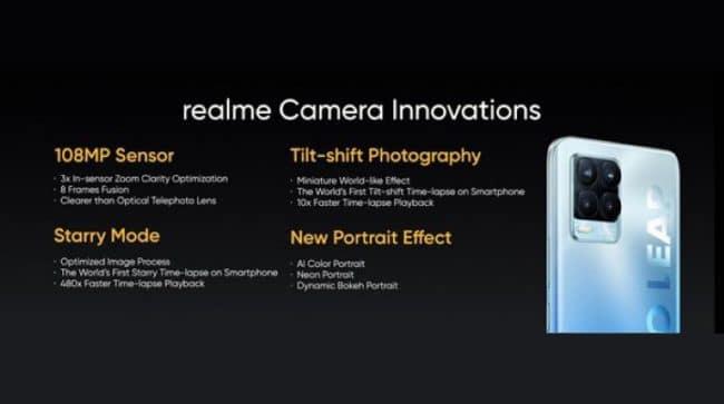 Realme caméra 108 mégapixels