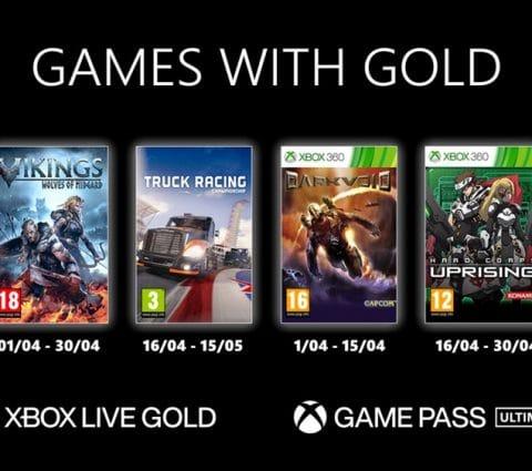 Games with Gold : les jeux Xbox offerts en avril 2021 sont connus