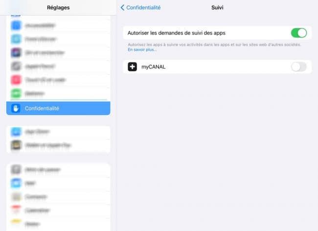 anti-tracking iPadOS