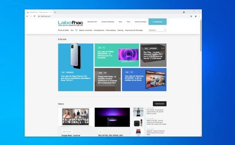 Google Chrome LaboFnac