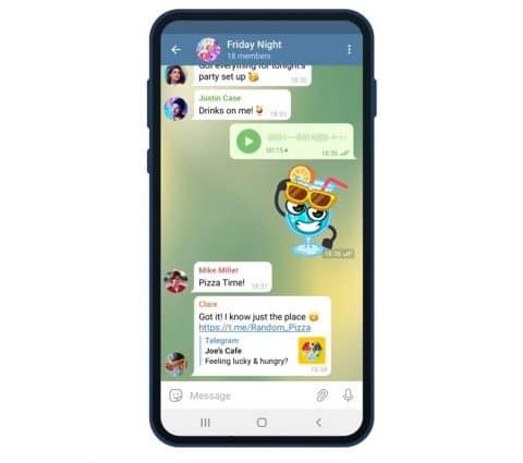 Telegram : des salons vocaux planifiés en attendant les appels vidéo de groupe