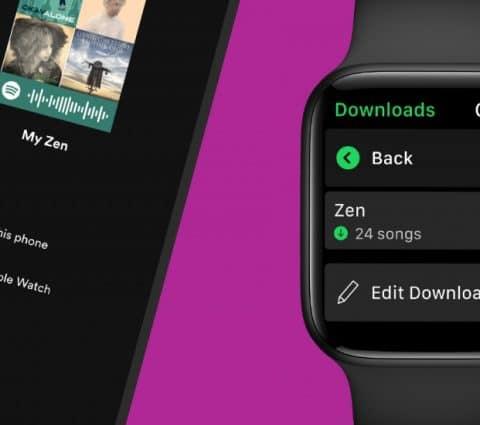 Spotify pour Apple Watch permet désormais de télécharger de la musique