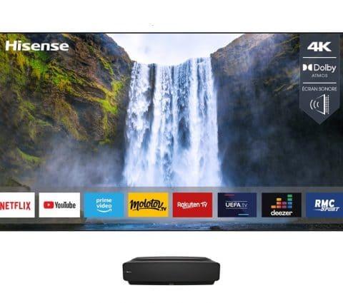 Sonic Laser TV 88L5VG et modèle 120 pouces : Hisense lance deux nouveaux Laser TV