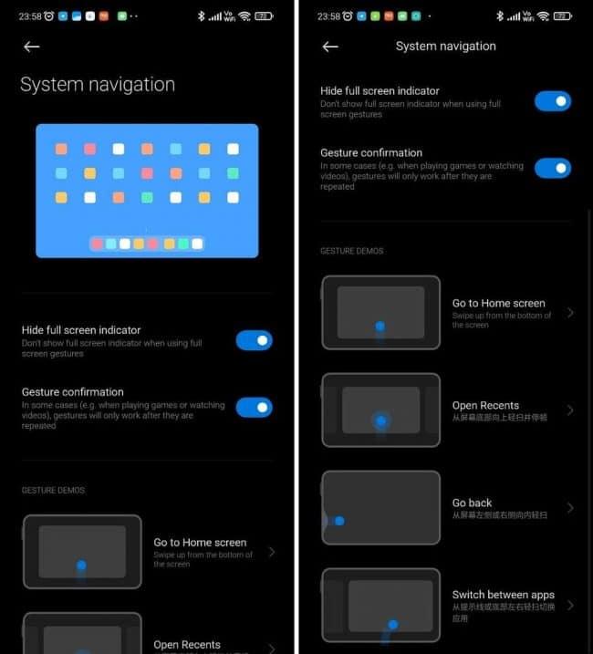 Mode tablette dans Xiaomi MIUI