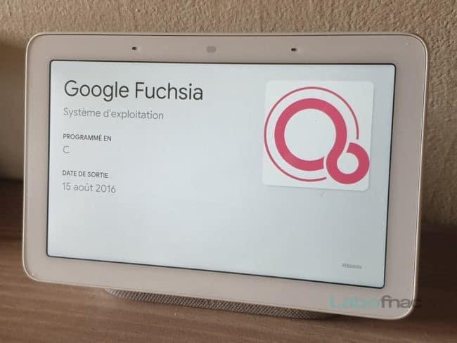 Google Nest Hub Fuchsia OS