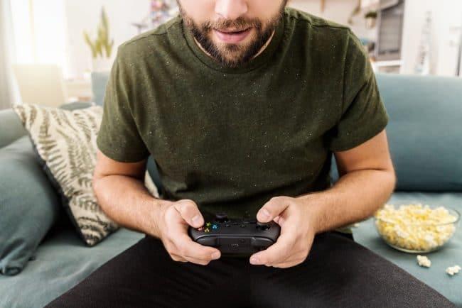 Xbox joueur gamer manette