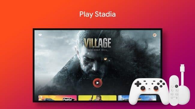 Google Stadia Google TV et Android TV