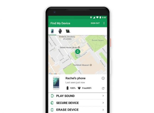 Android Localiser smartphone